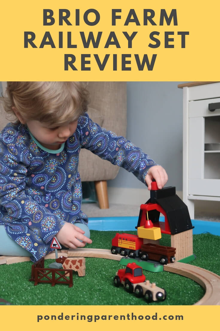 Looking for a toddler gift? Check out my review of the brio farm railway set.