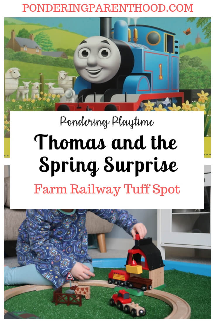 Looking for a train-based tuff spot? Check out my farm railway tuff spot to play with alongside the Thomas the Tank Engine book, Thomas and the Spring Surprise.
