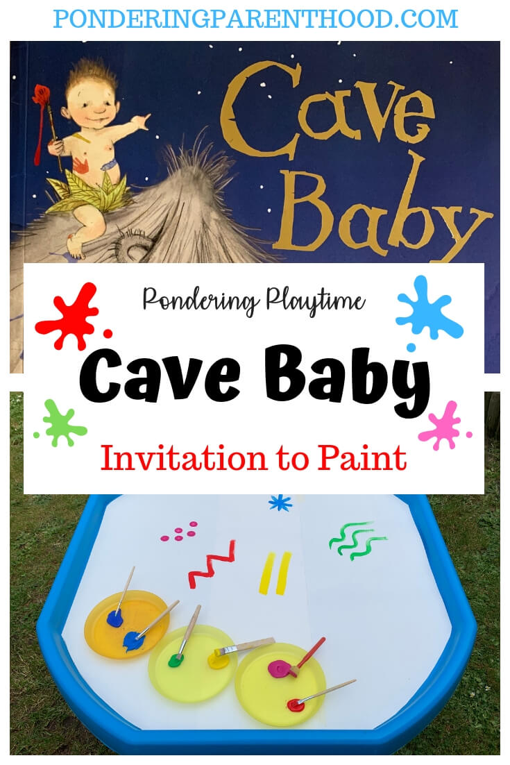 Looking for EYFS activities linked to Cave Baby by Julia Donaldson? Try this quick, easy and fun invitation to paint.