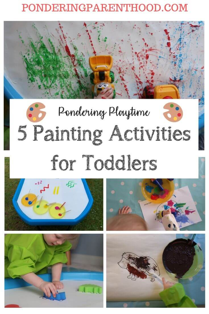 Looking for some different ideas for using paint with a toddler? Check out these easy, fun painting ideas!