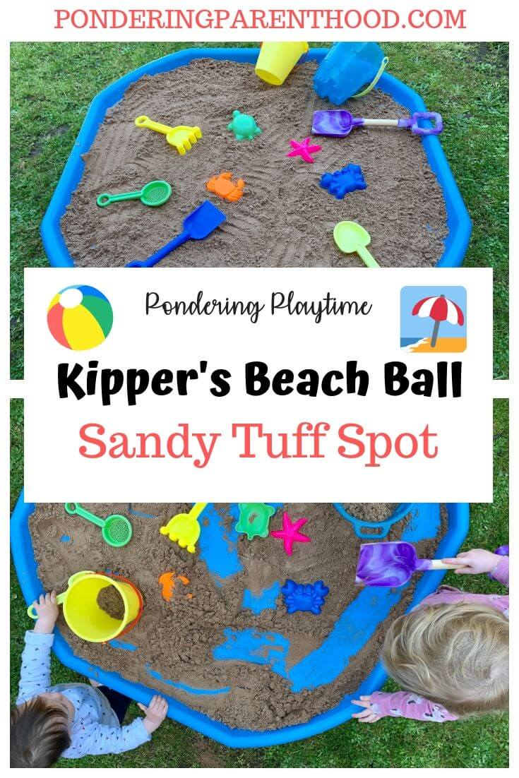 Looking for an easy EYFS activity linked to Kipper's Beach Ball by Mick Inkpen? Check out this fun beach tuff spot.