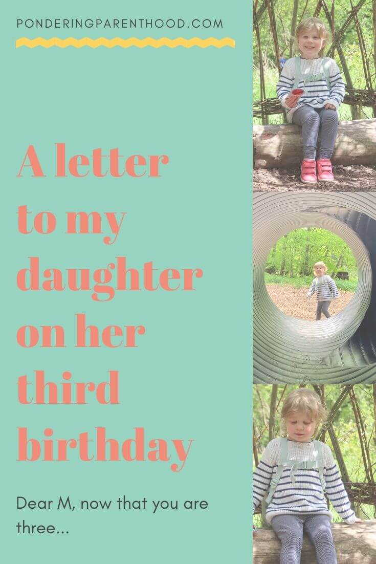 A letter to my daughter on her third birthday.