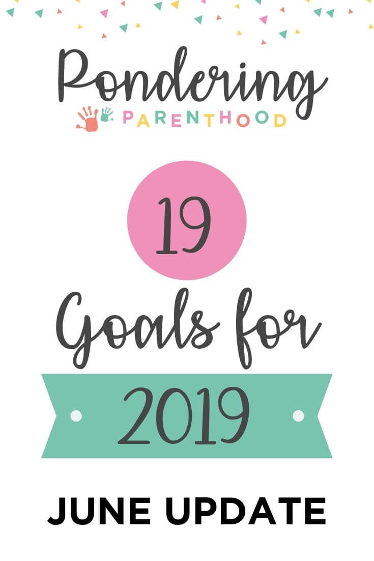 In January I set 19 goals for 2019. Here's how I'm getting on with them after six months. My goals included decluttering and getting outside every day.