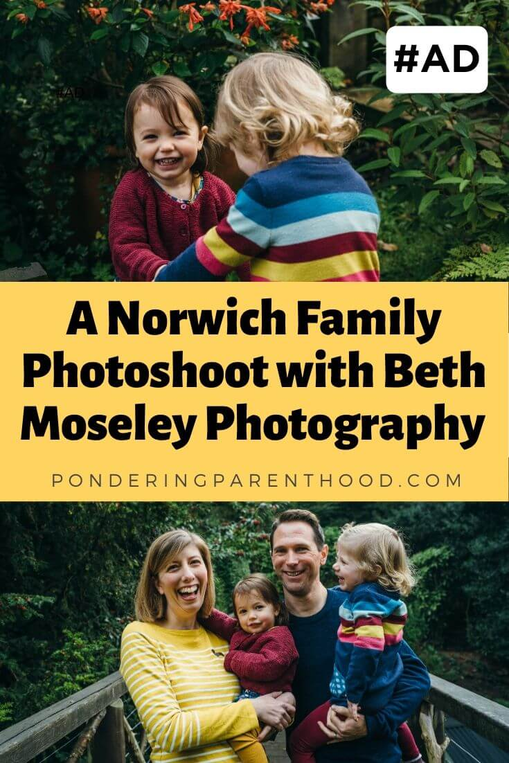 Pinnable image - A Norwich family photo shoot with Beth Moseley photography.